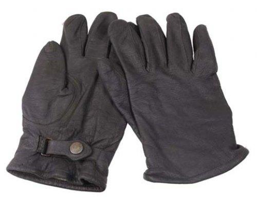 BW Lederhandschuhe, grau, gebr., II. Wahl gef.