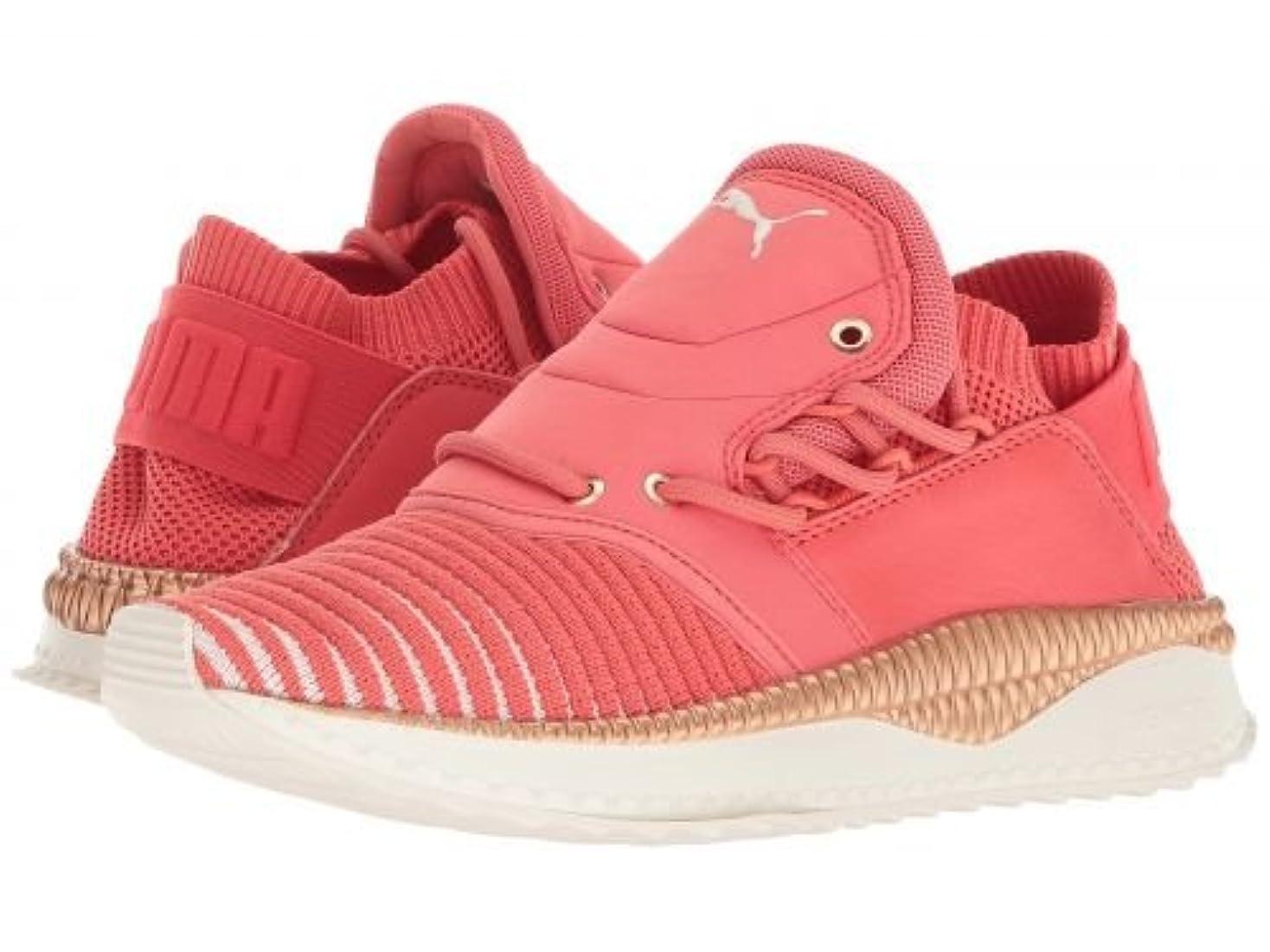 タイトあたたかい武器PUMA(プーマ) レディース 女性用 シューズ 靴 スニーカー 運動靴 Tsugi Shinsei evoKNIT - Spiced Coral/Whisper White/Whisper White [並行輸入品]