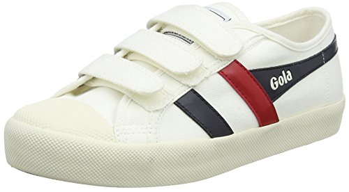 Gola Damen Coaster Velcro Sneaker, Elfenbein (Off White/Navy/red Wx), 40 EU