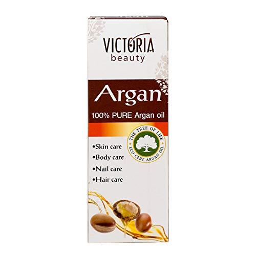 Victoria Beauty - reines Arganöl kaltgepresst aus Marokko für Haut, Haare & Nägel, veganes Haaröl, ECO CERT zertifiziert (1 x 30 ml)