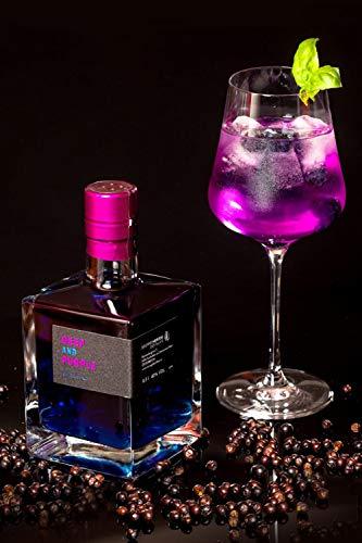 Jetzt NEU: HERZOG Gin DEEP and PURPLE | 0,5 L | 14 Botanicals | 40% Alkoholgehalt