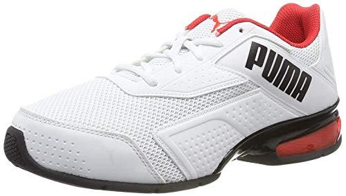 PUMA Leader VT Bold, Scarpe da Corsa Unisex-Adulto, Bianco White/High Risk Red Black, 41 EU