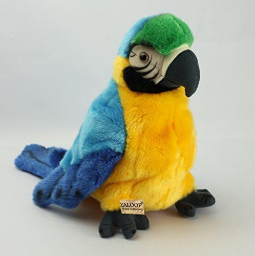 Zaloop Papagei Handpuppe Kuscheltier Plüschtier Stofftier 84