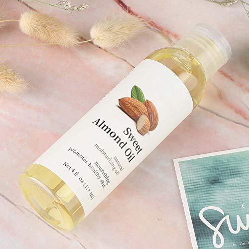 Aceite esencial orgánico Aceite esencial inofensivo, aceite de almendras dulces, 118 ml para el cuidado corporal de las mujeres