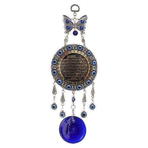 Biitfuu Ojo Azul, Perlas Azules turcas Amuleto Delicado Adorno de Vidrio Azul hogar protección decoración para Colgar en la Pared para Lucky