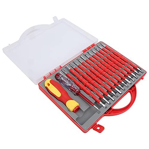 Bolígrafo eléctrico, punta de destornillador magnético Kit de destornillador de diseño ergonómico con mango para reparar para facilitar las piezas metálicas en las esquinas