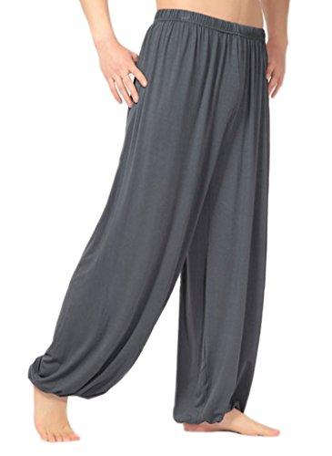 MESHIKAIER Super weiche Herren Haremshose Freizeithose Pluderhose Pumphose Yoga Hose Sport Hose für 4 Jahreszeiten (Size XL, Dark Grau)