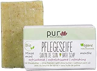 Manufaktur Pur Bio Natur-Olivenölseife Minze Seife 100 g