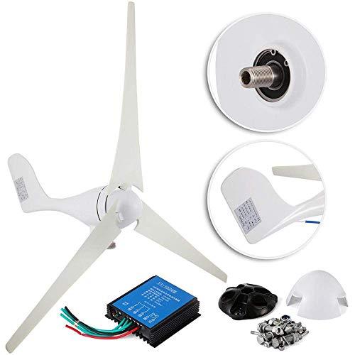 DONGYAO Generador de turbina eólica, 400 W DC 12 V 3 cuchillas con controlador para casas de RV marinas de energía industrial para el hogar (color: 12 V)