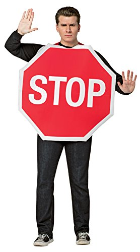 RASTA IMPOSTA Disfraz de señal de stop para hombre - Estándar
