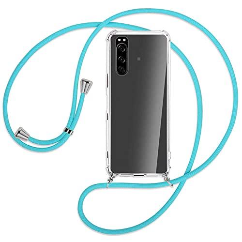 mtb more energy Collar Smartphone Compatible con Sony Xperia 5 III (6.1'') - Turquesa - Funda Protectora ponible - Carcasa Anti Shock con Cuerda Correa