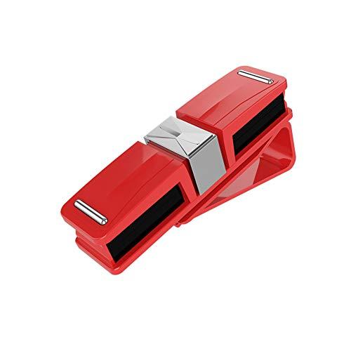 Porta Gafas Para Coche PortáTil Espacio De OptimizacióN Visera AutomóVil Soporte Gafas Alta Calidad CóModo Estuche Gafas FOR Parasol De Coche Red,One Size
