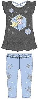 Disney Girls Frozen T-Shirt and Capri Legging Set
