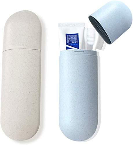 2pcs voyage cas de brosse à dents, boîte de dentifrice portable boîte de rangement de brosse à dents porte-brosses à dents tasse d'eau pour voyage, camping, école