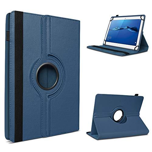 UC-Express Schutzhülle kompatibel für Huawei MediaPad T1 T2 T3 7.0 aus Kunstleder Hülle Tablet Tasche Standfunktion 360 Drehbar Cover Universal Hülle, Farben:Blau