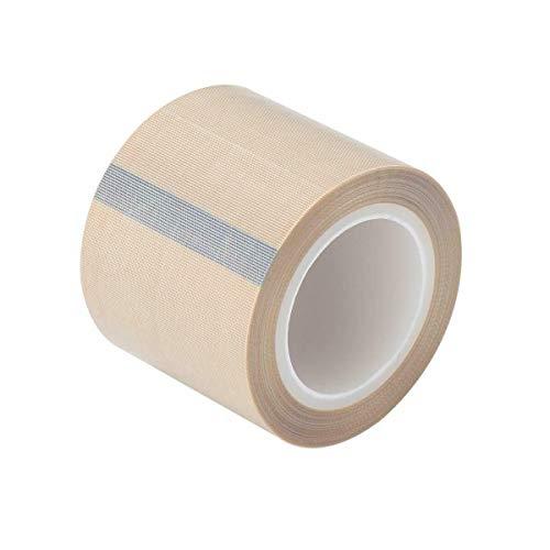 PTFE Coated Fiberglass Telfon Tape,high Temperature Tape,Drying Mechanical Conveyor Belt, Welding Sealing Tape,Teflon Tape for Vacuum Sealer Machine,50mm x 11yards/33feet