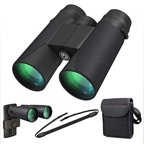 Lowest Price! JACKII High Power Binoculars, 12x42 Binocular for Adults with BAK4 Prism, FMC Lens, Fo...