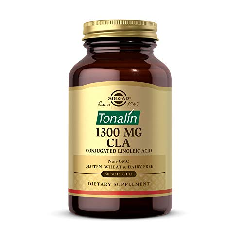 Solgar Tonalin CLA 1300 mg, 60 Softgels - Essential Omega-6 Fatty Acid - Derived from Non-GMO Safflower Seed Oil - Gluten Free, Dairy Free - 60 Servings