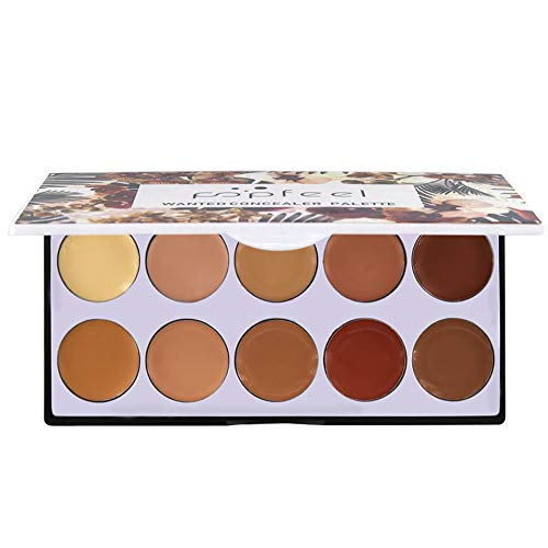 Allbestaye 10 Couleurs Palette Anti-tâches et correcteurs Palette Correcteur Couverture Vegan Taches Maquillage Crème Camouflage
