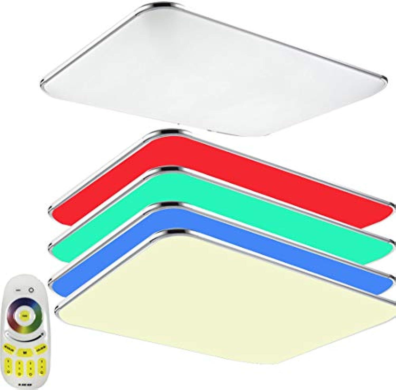 48W RGB LED Ultraslim Panel Deckenleuchte Badleuchte Deckenlampe Silber Kante Flurleuchte (48W RGB)