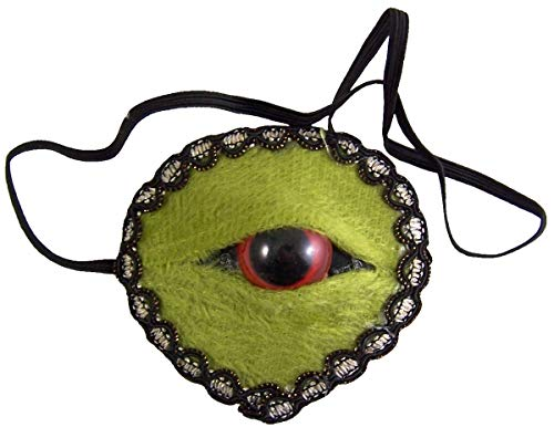 Needzo Green Zombie Monster Eye Patch, 3 Inch (Green)