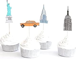 New York City Cupcake Toppers New York Picks Party Decoration (Pack of 24)