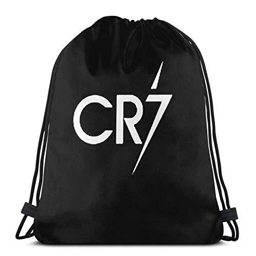 IUBBKI Print Drawstring Backpack,Cr7,String Bag Sackpack Cinch Water Resistant Nylon Beach Bag for Gym Shopping Sport Yoga Christmas Stocking Stuffer