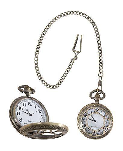 P'tit Clown - Reloj de bolsillo steampunk, unisex, adulto, 17532, talla única