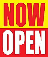Now Open 18x24 Store Business Retail Sale Promotion Signs 5 Pack [並行輸入品]