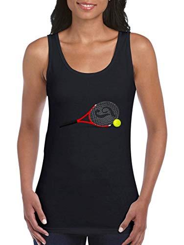 Druckerlebnis24 Tank Top - Tennisschläger Tennis Tennisball Kugel - Tops für Frauen und Damen