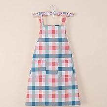 Apron Designs Fashion Antifouling Smock Plaid Sleeveless Apron for Home