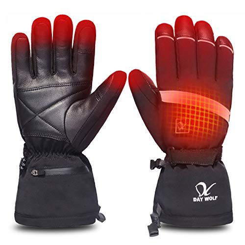 Heated Gloves Electric Hand Warmer 7.4V 2200MAH Rechargeable Men Women Wind & Water Resistant Thermal for Winter Indoor Outdoor Sports Skiing Snowboarding Ice Fishing Camping Hiking Hunting (XL)