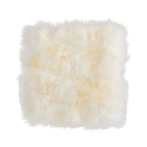 IKEA SKOLD Kissenbezug in weiß; aus Schaffell; (50x50cm)