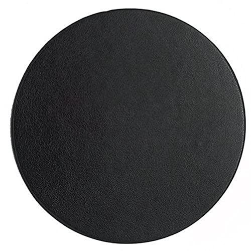 Almohadilla de vajilla de cuero resistente al agua aislamiento térmico bebida Mat pequeño calor prueba taza almohadillas cocina mesa Mat Posavasos negro