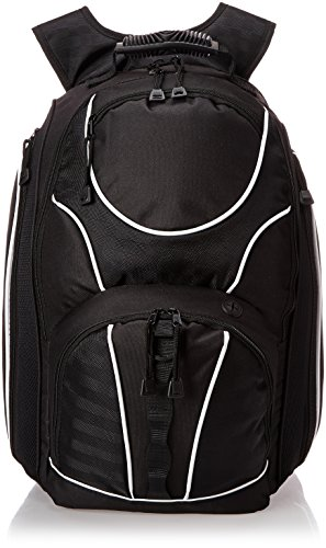 "World Traveler TSA Friendly 17"" Laptop Backpack, Black, One Size"