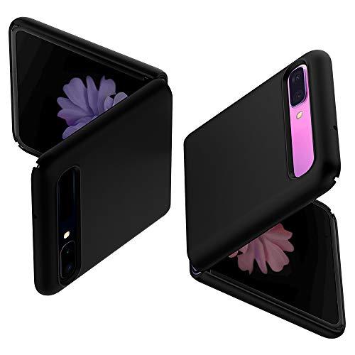 Spigen Thin Fit Kompatibel mit Samsung Galaxy Z Flip Hülle Hardcase Matt Anti-Scratch Handyhülle Schutzhülle Hülle - Schwarz