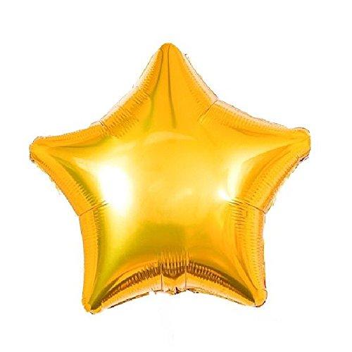 Mondial-fete - Ballon alu étoiles or 52 cm