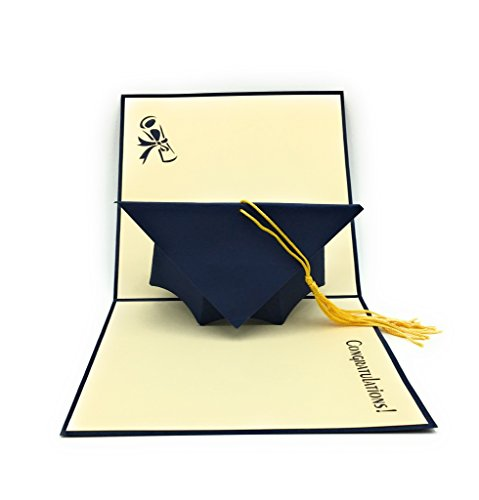 Handmade Laurea Pop Up Card – Ideale Per Highschool College University Masters E PHD Laureati.