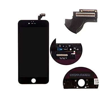 Front Glass LCD Screen Replacement Digitizer Assembly Frame Full Set Display Touchscreen for iPhone 6 Plus 5.5 Inches Black