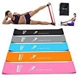 MQOUNY Resistance Loop Bands,Booty Bands for Women Anti Slip, Resistance Bands for Legs and Butt Resistance Loop Bands for Physical Therapy,Exercise, Home Fitness More(Black.Gray.Orange.Blue.Pink)