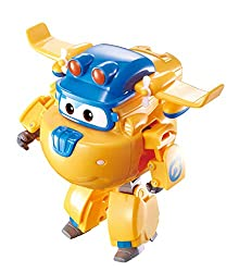 Transforming Build-It Donnie transforms from toy airplane to bot in just 10 easy steps Also has real working wheels. Wearing his Build-it Buddies attire, Donnie is a genius when it comes to inventing things to solve problems on the hit preschool Supe...