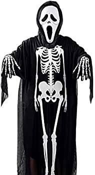 SKYLA&SKYLER Unisex Robe Halloween Costume (Black & White)