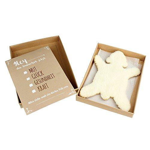 Casa Vivente – Dickes Fell – Eisbär – Mit Geschenkbox und Grußkarte – Glücksbringer und Trost bei Stress und Liebeskummer – Geschenkidee Frauen und Männer