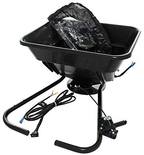 Power Series® 12V Streuer Streugerät ideal für Quad ATV und Rasentraktoren - Beladung bis 40kg, Streubreite 3-5m