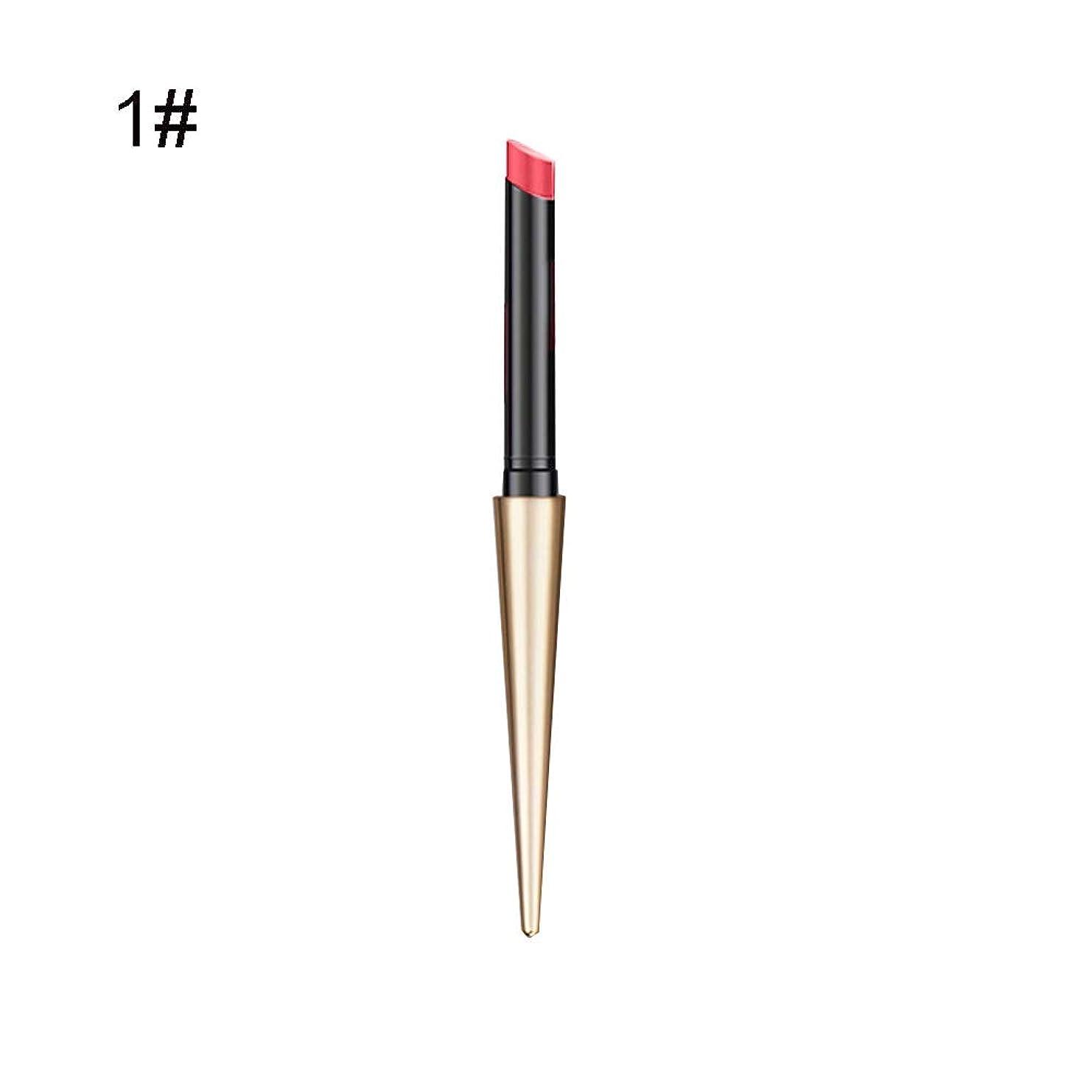 同化する急襲参照するリップスティック 10色 マット 筆 ボールヘッド リップグレーズ 防水 耐久性 リップバーム 化粧 チューブ 口紅 真新しい グラデーションリップ 一筆書きで高輝度色で美しい唇を彩りルージュhuajuan (A)