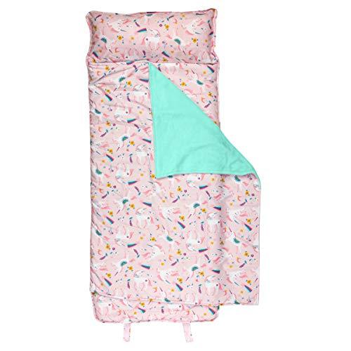 Stephen Joseph Stephen Joseph All Over Print Nap Mat, Pink Unicorn, Pink Unicorn (SJ7702)