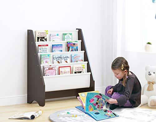 UTEX Estantería para niños, revistero – estante para libros para niños, organizador de libros