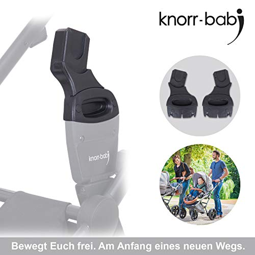 knorr-baby Adapter 35092 - Kinderwagen - New Easy-Click-System, Schwarz
