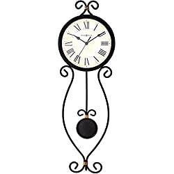 Howard Miller Ivana Wall Clock 625-495 – Modern Wrought-Iron with Quartz Movement