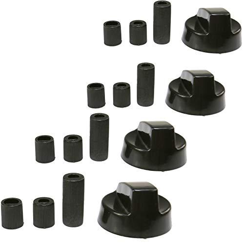 First4spares, set de 4mandos de control universales de repuesto para hornos y cocinetas, color negro